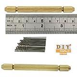 Micro Twist Drill+Brass Pin Vise Hand Drill Jewelry Drilling Chuckm