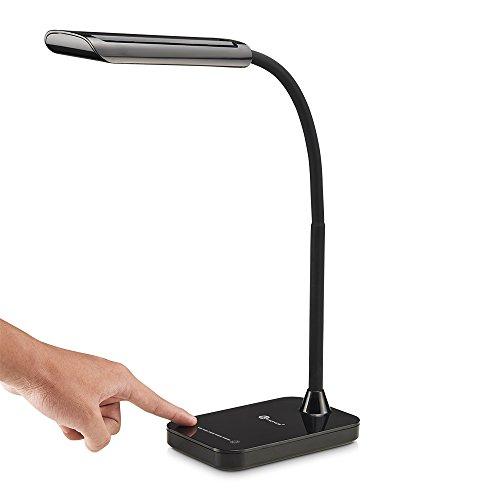 LED デスクライト 【国内正規品】 TaoTronics電気スタンド 卓上スタンド・テーブルランプ 目に優しいタッチセンサー【明るさ 386ルーメン】で七段階調光 TT-DL11
