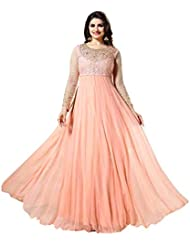 Alethia Light Pink Color Party Wear Embroidered Georgette Semi-Stitched Anarkali Suit-H30DL55SH