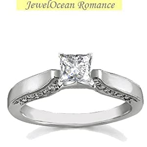 Alluring Antique Inexpensive Solitaire Engagement Ring Half Carat Diamond on Gold