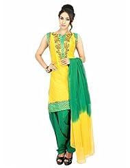 Fashiontra Women's Cotton Straight Cut Salwar Suit