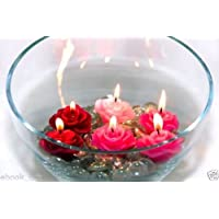 Sanlax Paraffin Wax Floating Candle - (3X3.5 Cm)(pack Of 5)