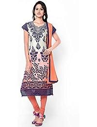 JVC Multi Colour Printed Dress Materials