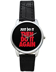 Bigowl Just Do It Then Do It Again Analog Women's Wrist Watch 2003078303-RS3-S-BLK