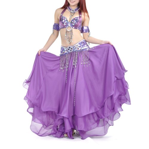 BellyLady 5-Pieces Professional Gypsy Tribal Belly Dancing Costume