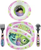 The First Years Feeding Set - Monsters Inc Girl- 4 Pc