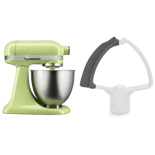 KitchenAid KSM3311XHW Artisan Mini with Flex Edge Beater, Honeydew, 3.5 Quart