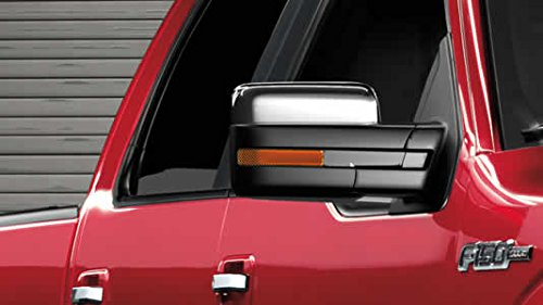 Razer Auto 2009-2014 Ford F150 Truck Triple Chrome Plated Top Half Mirror Cover Caps Trim Pair (Does not fit Towing Mirrors)