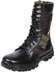 Massimo Italiano Men's Black Leather Boots