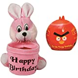 Skylofts Cute Rabbit Pen Stand (2 In 1 ) Soft Toy With Skylofts Chocolate Twanies (Free Toy Inside Twanies) Combo