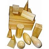 Kinder Creative Geometrical Solids Wood Finish(Set Of 10 Pcs)