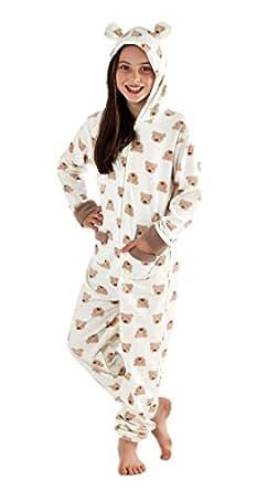 Amazon.com: girls ones all in one piece hoodie pyjamas ...