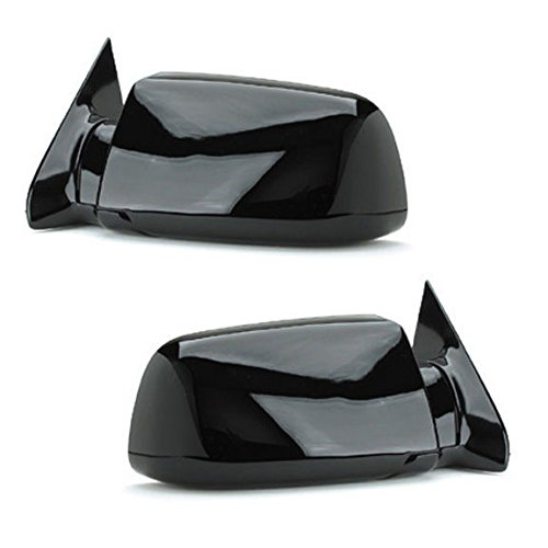88 – 98 Chevrolet Silverado GMC Sierra Door Mirror Manual Black Pair Set Blazer Jimmy Suburban Tahoe Yukon Driver and Passenger