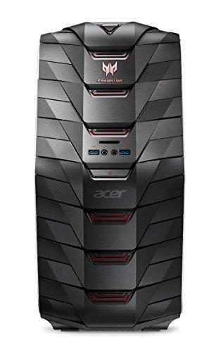 I Acer depredador G6-710 DT.B1DEG.001 Desktop-PC(Intel Core i5 6600 K, 8 GB RAM, 2 TB Disco duro, 128 GB SSD, GeForce GTX 970, DVD, Win 10 Home) negro