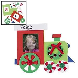 Amazon.com - Christmas Train Photo Frame Magnet Craft Kit