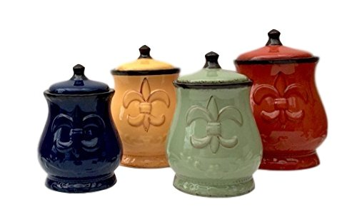 tuscan canisters kitchen country kitchen canister set tuscan decorative red green blue yellow food storag ebay 1576
