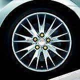 Alcoa Prime 17mm Wheel Screw Lug Nut Bolt Cover Cap Pack Of 20 For Car Audio Yellow