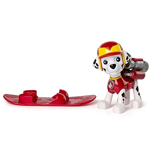 Paw Patrol Winter Rescues Action Pack Pup, Snowboard Marshall