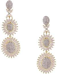 Swasti Jewels American Diamond CZ Zircon Fashion Jewellery Traditional Ethnic Earrings For Women