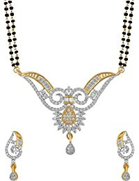 YouBella Traditional Gold Plated Mangalsutra Necklace Pendant With Chain And Earrings For Women