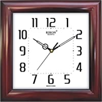Rikon Quartz Plastic Square Shape 27.5 Cm X 27.5 Cm Fancy Premium Home Decor Wall Clock For Home And Office R-...