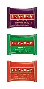 Larabar Gluten Free Fruit & Nut Food Mini Bars, Variety Pack of Cherry Pie, Apple Pie, Cashew Cookie, 12 - 0.78 Ounce Bars