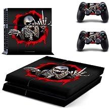 Banggood Skeleton Skin Sticker For PS4 Playstation 4 Console Controller Decal Set