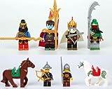 8 Sets MiniFigures Three Kingdoms Guan Yu lvbu War Horse