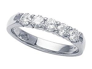 Karina B (tm) Round Diamonds Band in Platinum 950 Size 6.5