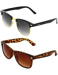 Zyaden COMBO Of Clubmaster Sunglasses & Wayfarer Sunglasses (Combo-99)