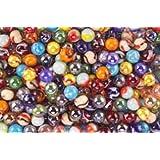 """Mega Marbles SET OF 48 ASSORTED BULK - 5/8"""" PLAYER MARBLES"""