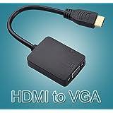 Alcoa Prime New! Measy H2V 1080P HDMI Male To VGA Female Cable Video Converter Adapter + Audio For PC Monitor...