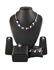 Blue Golden Designer Jewellery Set