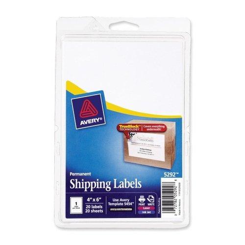Wholesale CASE of 25 - Avery Shipping Labels w/ Trueblock Te