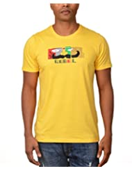 Kuroki Rebel - Mens Yellow Colour Round Neck Tshirts - By Nirvana