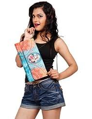 Digitally Printed Multi Stylish Loung Clutch Fashion/Carry Bags With Multi Pocket - B01IBJXEWM