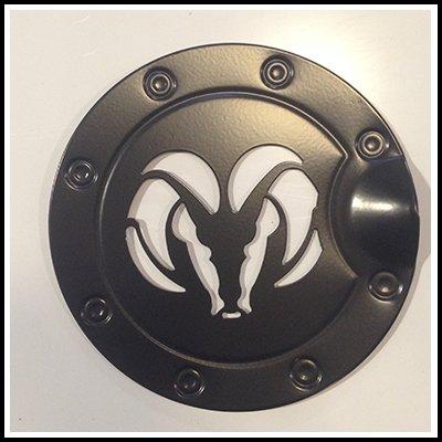 Black Ram Head Billet Gas Door Trim Cover fits: Dodge Ram 94-08 – Ferreus Industries – DH126-Black