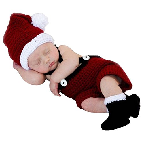 Soft Crochet Knit Baby Photograph Props,cute Baby Xmas Outfits