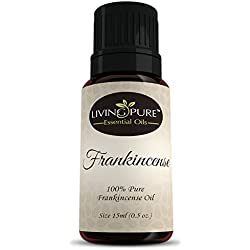 #1 Frankincense Essential Oil - Pure Frankincense by Living Pure Essential Oils - Aids Healthy Skin, Arthritis, and Healing - 100% Organic Therapeutic & Aromatherapy Grade Frankincense Oil - 15ml