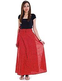 Shop Hatke Now Latest 2017 Trendy Block Print Maroon Black Wrap Around Skirt 118