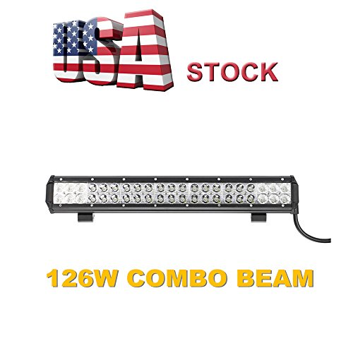Topcarlight 126W LED Lights Bar CREE Chips Flood Spot Combo Beam Off Road Truck 4wd SUV ATV Waterproof