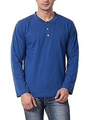 Leana Men's Button Front Cotton T-Shirt - B00QRCPEEC