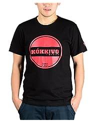 Kokkivo Clothing Men's Round Neck Cotton T-Shirt (Black)