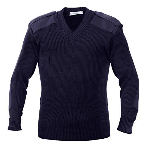 Rothco Acrylic V-Neck Sweater in Navy - Medium