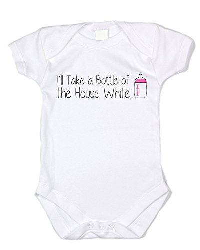 I'll Take the House White (3-6 month)