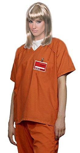 Trump and Clinton Halloween Costumes - Choose Edgy or Funny - Women's Orange Scrub Set Prisoner Costume