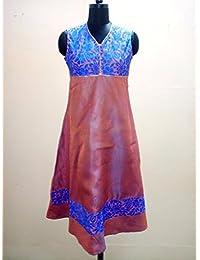 Rangrezi By Guluzfashion Pink Long Length Viscose Kurti For Women