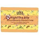 Lass Naturals Fight The Bite Anti Mosquito Soap 125 Gm - Handmade Premium Bathing Soap - Skin Care