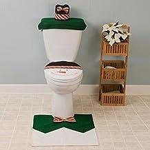 Alcoa Prime 3pcs/set Snowman Toilet Seat Cover & Rug Bathroom Set Christmas Decorations For Home Christmas Ornament...