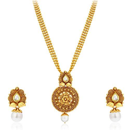 Sukkhi Graceful Gold Plated Kundan Necklace Set For Women